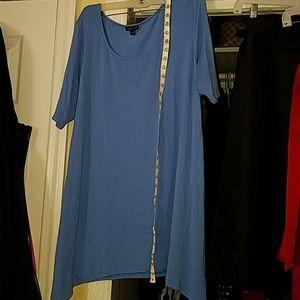 J. Jill SOFT asymnetrical baby blue dress or tunic